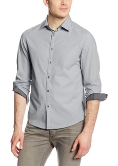 Kenneth Cole New York Men's Long Sleeve Contrast Placket Shirt