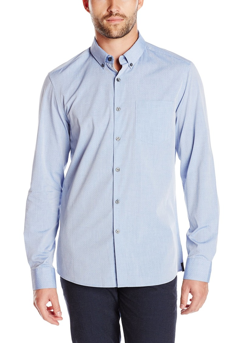Kenneth Cole New York Men's Long Sleeve Dobby Shirt