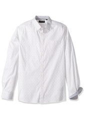Kenneth Cole New York Men's Long Sleeve Dot Print Shirt