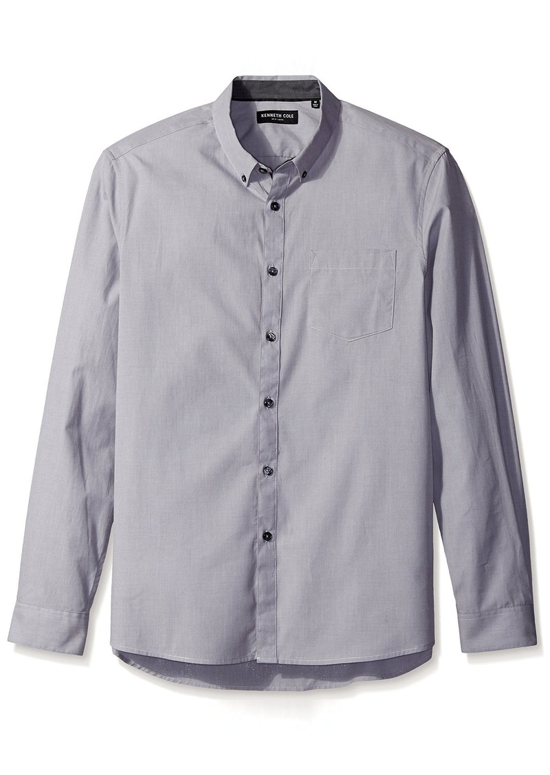 Kenneth Cole New York Long-Sleeve Contrast Button-Down Shirt
