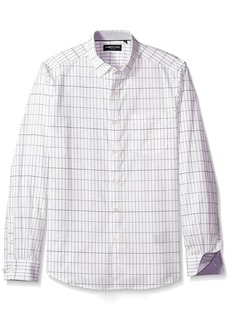 Kenneth Cole New York Men's Long Sleeve Grid Print