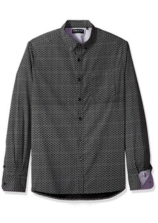 Kenneth Cole New York Men's Long Sleeve Micro Dot Print