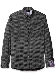 Kenneth Cole New York Long-Sleeve Stretch Multi Dot Print Shirt