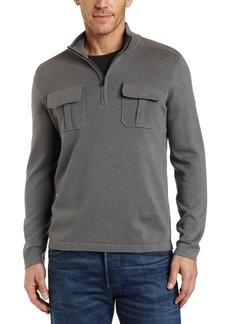 Kenneth Cole New York Men's Long Sleeve Mock Sweater Dim Gray