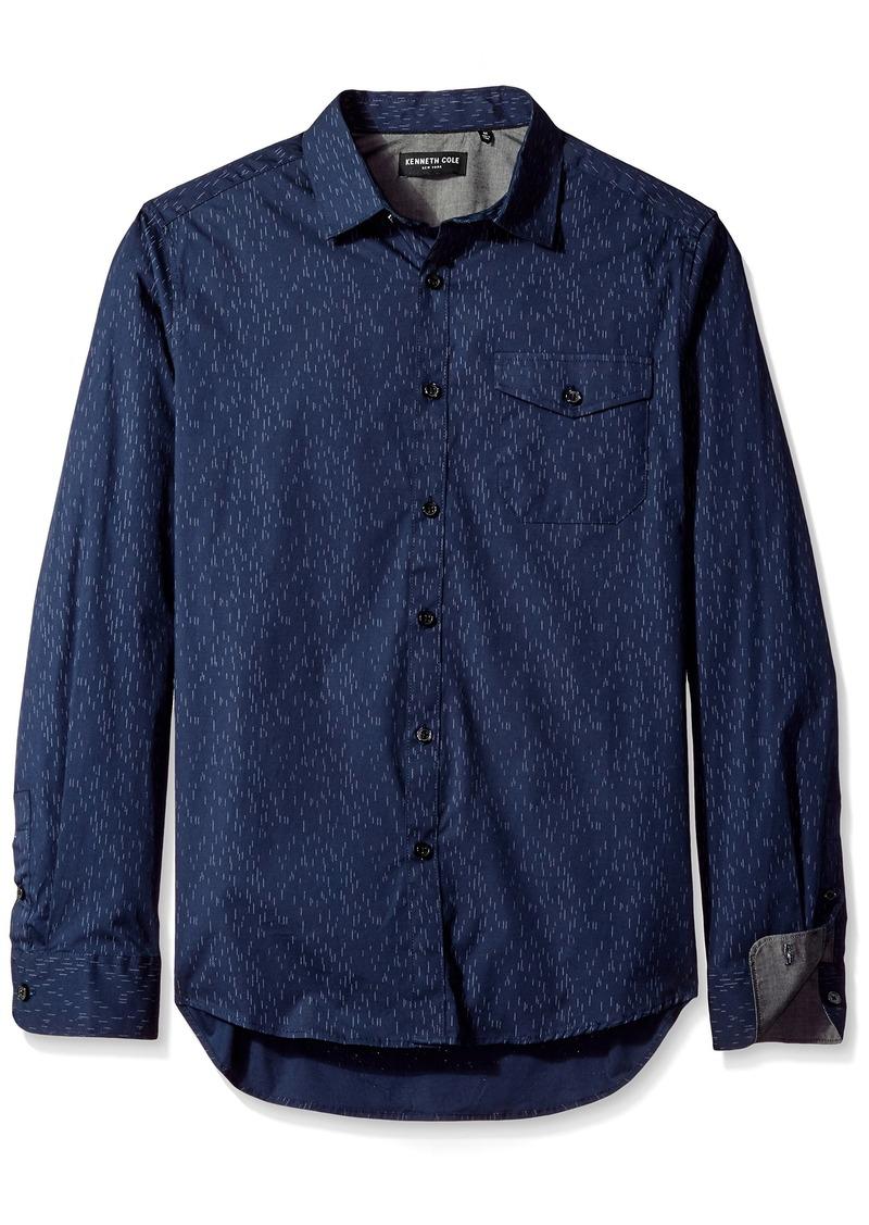 Kenneth Cole New York Men's Long Sleeve Printed Shirt