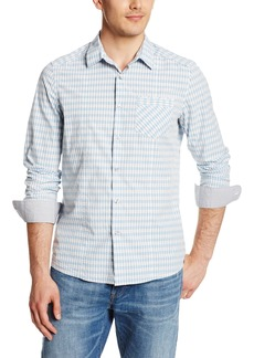 Kenneth Cole New York Men's Long Sleeve Shirt with Piping