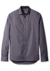 Kenneth Cole New York Men's Long Sleeve Stripe Shirt  L
