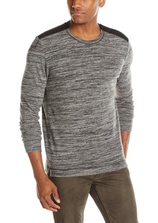 Kenneth Cole New York Men's Long Sleeve Striped Crew