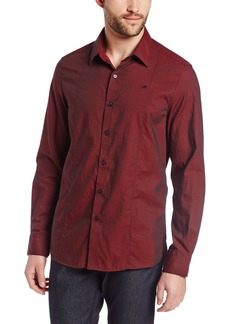Kenneth Cole New York Men's Long Sleeve Twill Shirt