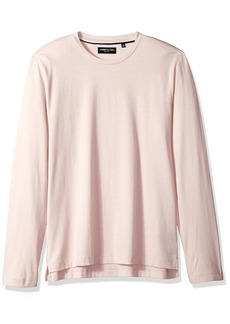 Kenneth Cole New York Men's Long Sleeve Two-Tone Crew Autumn rose