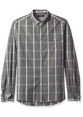 Kenneth Cole New York Men's Long Sleeve Windowpane Shirt