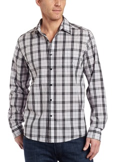 Kenneth Cole New York Men's Long Sleeve Yarn Dye Plaid Shirt