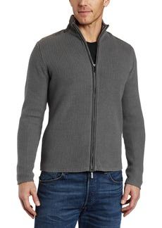 Kenneth Cole New York Men's Long Sleeve Zip Sweater Dim Gray