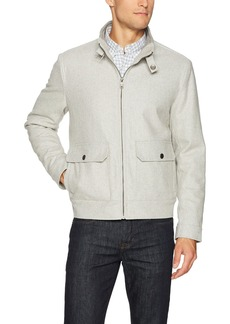 Kenneth Cole New York Men's Melton Wool Bomber Jacket tin
