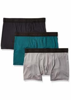 Kenneth Cole New York Men's Microfiber Boxer Brief Underwear Multipack Black/Deep Teal/Monument L