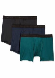 Kenneth Cole New York Men's Microfiber Boxer Brief Underwear Multipack Black/Navy/Deep Teal L