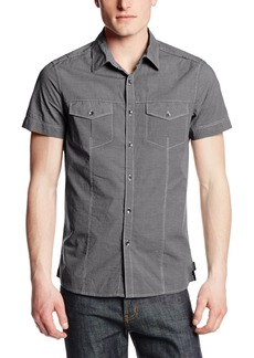 Kenneth Cole New York Men's Military Mini Stripe Shirt