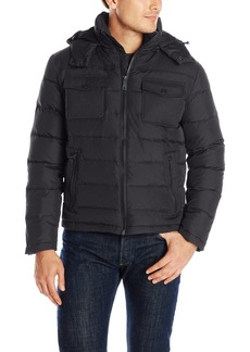 Kenneth Cole New York Men's Mixed-Media Down Jacket