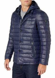 Kenneth Cole New York Men's Modern Inner Bib Layered Jacket