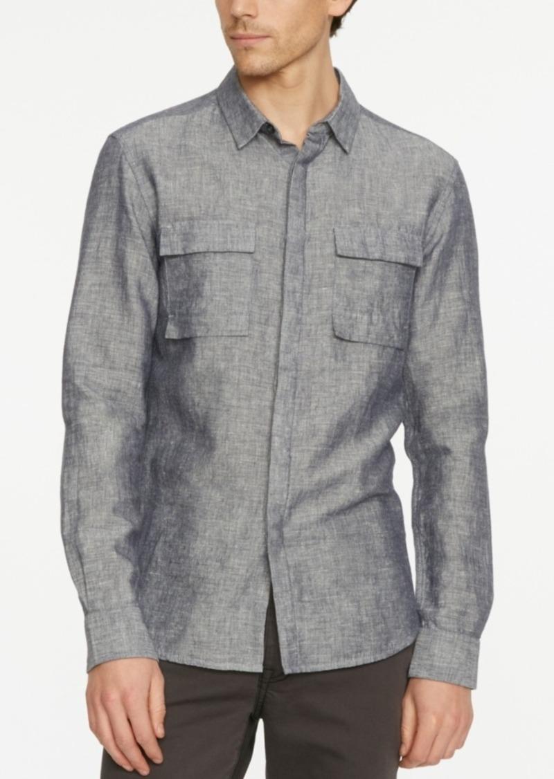 Kenneth Cole New York Men's Modern Long-Sleeve Utility Shirt