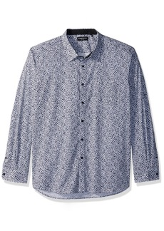 Kenneth Cole New York Men's Mosaic Print Shirt