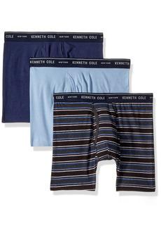 Kenneth Cole New York Men's Underwear Cotton Stretch Boxer Brief Multipack