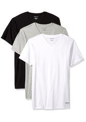 Kenneth Cole New York Men's Novelty 3 Pack V Neck Tees White/: ogjtgray/Black XL