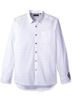 Kenneth Cole New York Men's Long Sleeve Mini-Print Shirt
