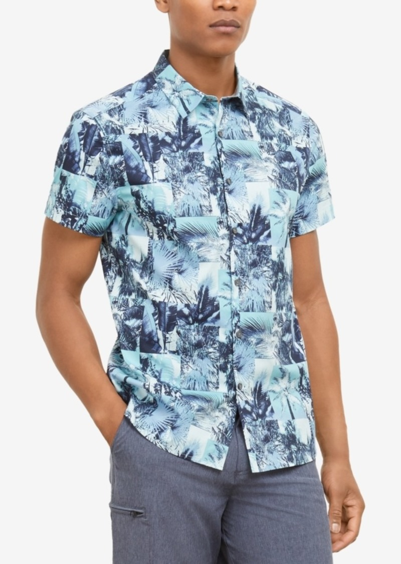 Kenneth Cole New York Men's Palm Graphic Shirt