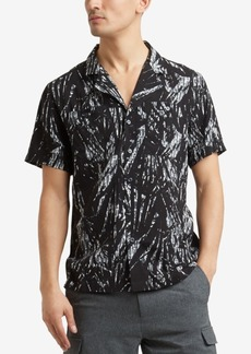 Kenneth Cole Men's Palm-Print Pocket Shirt