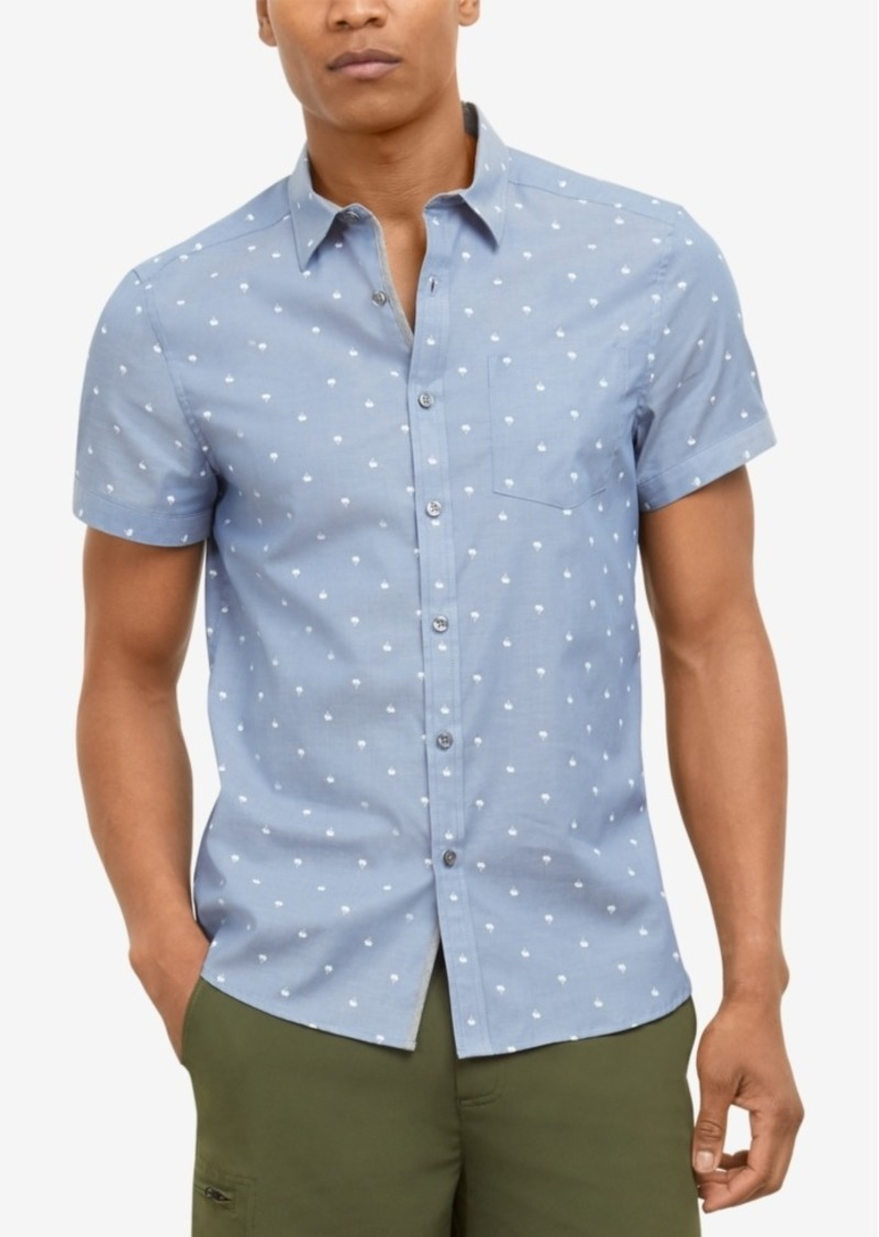Kenneth Cole New York Men's Palm-Print Shirt
