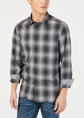 Kenneth Cole New York Men's Performance Stretch Ombre Plaid Shirt