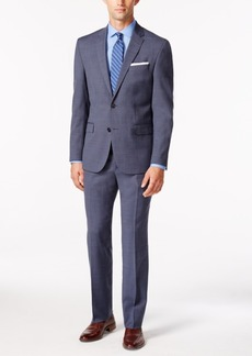 Kenneth Cole New York Men's Performance Wear Light Blue Sharkskin Slim Fit Travel Suit