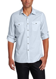 Kenneth Cole New York Men's Pieced Mini Check Shirt