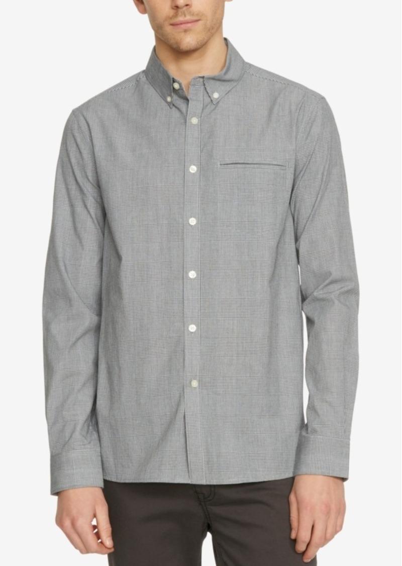 Kenneth Cole New York Men's Plaid Besom-Pocket Long-Sleeve Shirt