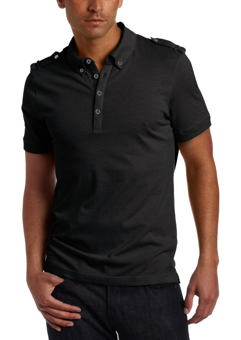 Kenneth Cole New York Men's Polo Shirt With Epaulettes