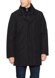 Kenneth Cole New York Men's Radford Top Coat with Wool Blended Bib  MED