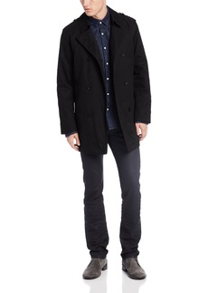 Kenneth Cole New York Men's Rance 34 Inch Double Breasted Rain Peacoat   Regular
