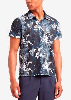 Kenneth Cole New York Men's Regular Fit Printed Polo