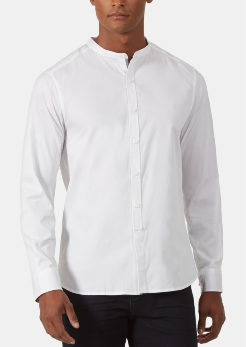 Kenneth Cole New York Men's Regular-Fit Stretch Diamond Dobby Shirt