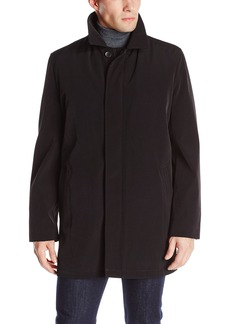 Kenneth Cole New York Men's Revere Overcoat with Zip-Out Liner