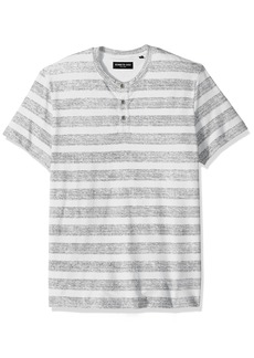 Kenneth Cole New York Men's Reverse Printed Stripe Henley Shirt