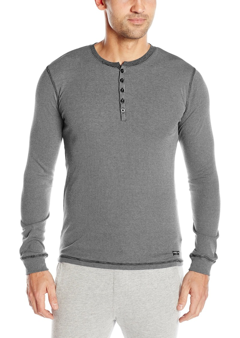 Kenneth Cole New York Men's Ribbed Henley  S