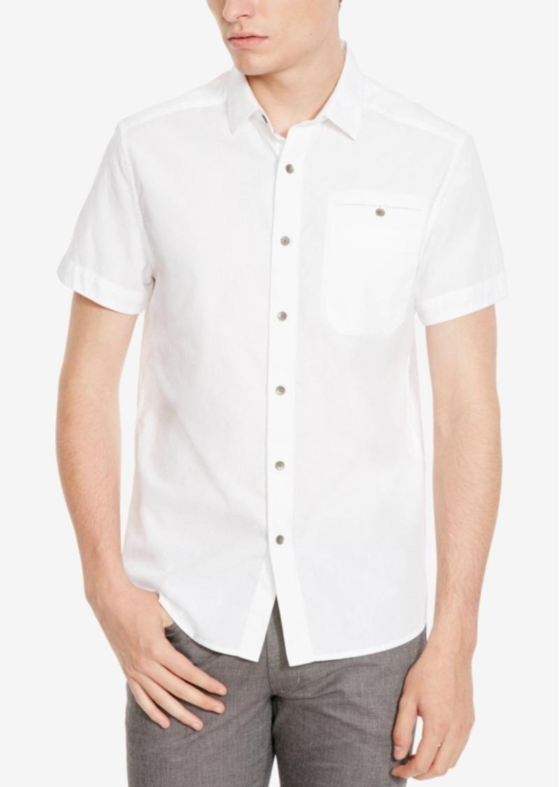Kenneth Cole New York Men's Ripstop Short-Sleeve Shirt