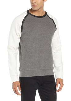 Kenneth Cole New York Men's Ls Felted Crew