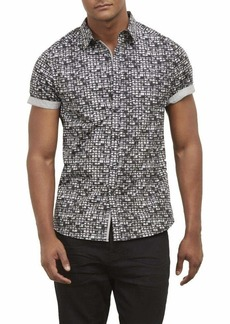 Kenneth Cole New York Men's Short Sleeve Button Down Shirt