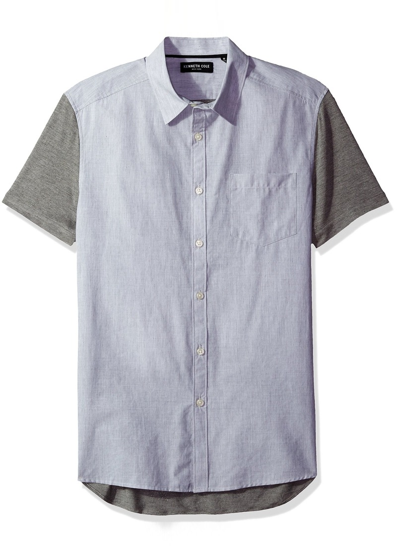 Kenneth Cole New York Men's Short Sleeve Contrast Jersey