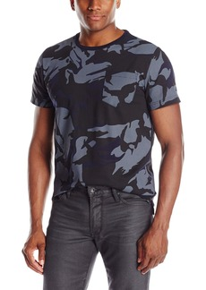 Kenneth Cole New York Men's Short Sleeve Crew Camo Prnt