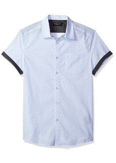 Kenneth Cole New York Men's Short Sleeve Geo Print Shirt