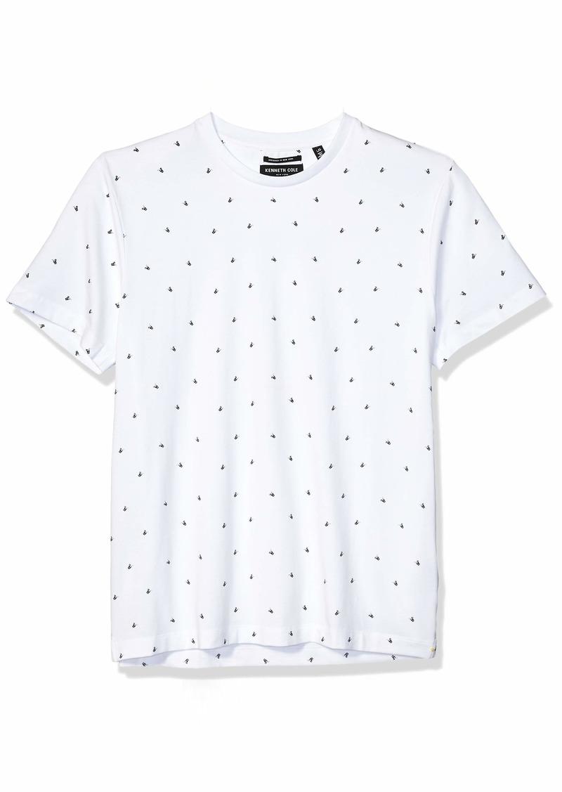 Kenneth Cole New York Men's Short Sleeve Printed Crew Neck Shirt